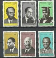"""Cameroun Aerien YT 138 à 143 (PA) """" Ecrivains Noirs Et Pro-noirs """" 1969 Neuf** - Camerun (1960-...)"""