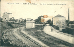 69 RHONE LYON   PONTCHARRA SUR TURDINE GARE TRAMWAY - Pontcharra-sur-Turdine