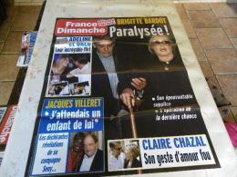 AFFICHE FRANCE DIMANCHE BRIGITTE BARDOT REGARDEZ MES VENTES ! J´EN AI D´AUTRES - Magazines: Abonnements