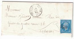1864 Lettre LSC Avec SUPERBE FRAPPE Du GC 999 De Chemiré-le-Gaudin Sur Napoléon N°22 Pour Le Mans - 1849-1876: Periodo Classico