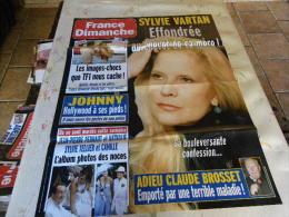 AFFICHE FRANCE DIMANCHE SYLVIE VARTAN REGARDEZ MES VENTES ! J´EN AI D´AUTRES - Magazines: Abonnements