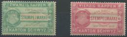 1164 - SCHWYZ Fiskalmarken - Steuermarken