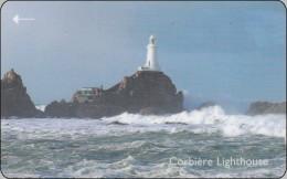 Jersey  Phonecard  Leuchtturm Lighthouse Corbiere - Lighthouses