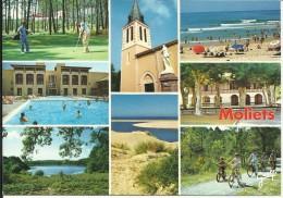 MOLIETS , Le Golf , Résidotel , Etang , L' Eglise , L' Océan , La Place Ombragée , Piste Cyclable - Autres Communes