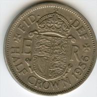 Grande Bretagne Great Britain 1/2 Crown 1956 KM 907 - K. 1/2 Crown