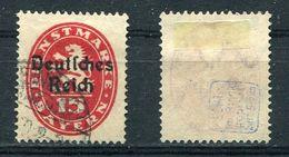 D. Reich Dienst Michel-Nr. 36 Gestempelt - Geprüft - Dienstzegels