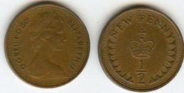 Grande Bretagne Great Britain 1/2 New Penny 1971 KM 914 - 1971-… : Monnaies Décimales