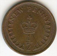 Grande Bretagne Great Britain 1/2 New Penny 1979 KM 914 - 1971-… : Monnaies Décimales