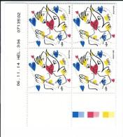 TP COEUR JC DE CASTELBAJAC 0.68 - COIN DATE DE 4 - 06/11/2014 - NEUF - NON PLIE - Unused Stamps