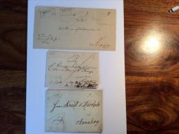 Sachsen 3 Vorphilabriefe: COLDITZ 1826, DRESDEN 1835, DRESDEN 1844.  (cover Lettre Brief