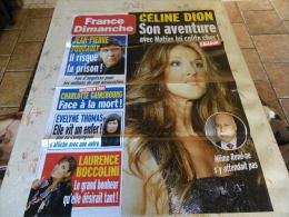 AFFICHE FRANCE DIMANCHE CELINE DION REGARDEZ MES VENTES ! J´EN AI D´AUTRES - Magazines: Abonnements