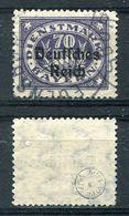 D. Reich Dienst Michel-Nr. 42 Vollstempel - Geprüft - Dienstzegels