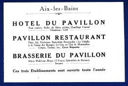 73 AIX LES BAINS Hôtel, Restaurant, Brasserie Du Pavillon - Les Taches Jaunes Sont Accentuées Par Le Scanner - Hotel Labels