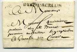 MP  DE ST MARCELLLIN  /  1769 / Dept De L'ISERE - Marcophilie (Lettres)