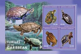 ANTIGUA 2012 - Faune Marine, Tortues Des Caraibes - Feuillet Neuf // Mnh Sheetlet - Antigua And Barbuda (1981-...)
