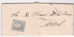 España. Carta Circulada Con Sello Clasico Sin Matasellar. Edifil 107* - 1868-70 Gobierno Provisional