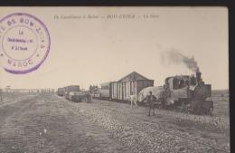 Maroc:De Casablanca à Rabat:CPA:Bou-Znika:La Gare - Maroc