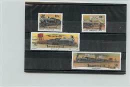 SOUTH AFRAICA SUDAFRICA BOPHUTHATSWANA 1991 - TRENI - TRAIN -LOCOMOTIVES - 4 VALORI - Bophuthatswana