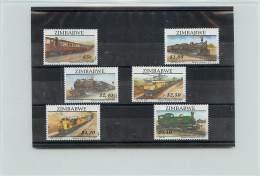 ZIMBABWE 1997 - TRENI - TRAIN -LOCOMOTIVES - 6 VALORI - Zimbabwe (1980-...)