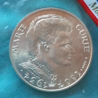 Essai 100 Francs Essai Marie Curie 1984 Argent  Silver FDC Sachet - Francia