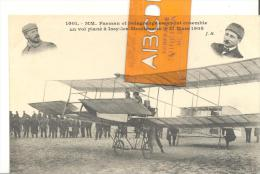 MM Farman Et Delagrange Essayent Ensemble Un Vol Plané à Issy-les-Moulineaux  Le 21 Mars 1908 - Aviateurs