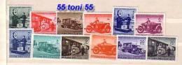 1941 PARCEL Stamps / Colis (car; Motorcycle; Train ) Yvert – Colis 1/12 12v.-MNH Bulgaria / Bulgarien - Sellos De Servicio