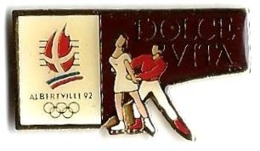 ALBERTVILLE 92 - JO24 - DOLCE VITA - Verso : C / COJO 1989 - Juegos Olímpicos