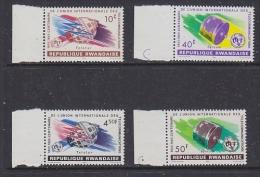 Rwanda 1965 UIT / Space 4v ** Mnh (27687) - Rwanda