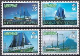 Bosnia-Hercegovina MNH Ships, Greenpeace Set - Schiffe