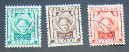 Nederland 1924: NVPH 141 - 143/ Y&T 159 - 161 Gebruikt - 1891-1948 (Wilhelmine)