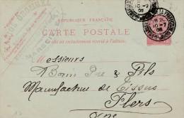 """Marseille - Entier Postal - Cachet Magasin """" Marius Orombel"""" Rue Fortia - Scan Recto-verso - Enteros Postales"""