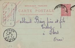 "Marseille - Entier Postal - Cachet Magasin ""Chevalier "" Rue St Gilles  - Scan Recto-verso - Biglietto Postale"