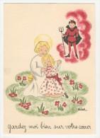Barré-Dayez           Scènes Pieuses Enfantines Par Leïla        1493 J - Künstlerkarten