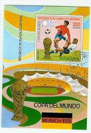 Republica De Guinea Ecuatorial  1974 World Championship Football, Soccer, Mi Bloc Cancelled(o) - Coppa Del Mondo