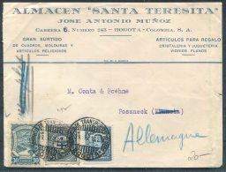 1928 Colombia Bogota SCADTA Mixed Franking Cover - Germany - Colombia