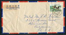 1970 Taiwan The Grand Hotel Taipei Airmail Cover - USA - 1945-... République De Chine