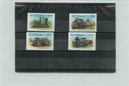 ANTIGUA 1981 - TRENI TRAINS - STEAM LOCOMOTIVES  - 4 VALORI - Antigua E Barbuda (1981-...)