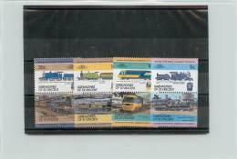 GRENADINES OF SAINT VINCENT 1984 - TRENI TRAINS - 16 VALORI - St.Vincent E Grenadine