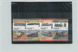 GRENADINES OF SAINT VINCENT 1985 - TRENI TRAINS - 8 VALORI - St.Vincent E Grenadine