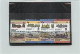 GRENADINES OF SAINT VINCENT 1986 - TRENI TRAINS - 16 VALORI - St.Vincent E Grenadine