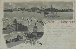 Litho Gruss Aus Konstanz Gelaufen 5.7.01 - Konstanz