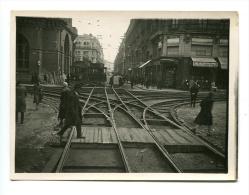 BTE 31 Photo Format 9x12 Ctm Toulouse Vue De La Place Esquirol Sur La Rue De Metz, Tramway, Nombreux Rails - Mirepoix