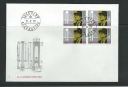 Schweiz 1979 FDC Mi 1150  100. Geburtstag Von Ammann Viererblock - FDC