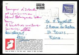 Timbre  D'irlande Au Dos D'une Carte Postale Pour La France En 1971 - Qaa2405 - 1949-... Republic Of Ireland