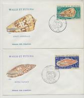 FDC  4 Enveloppes 1 Er Jour Wallis Et Futuna 1976 Coquillages Shell  Mata Utu - FDC