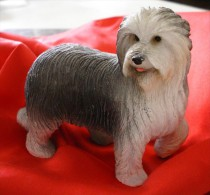 COLLIE BARBU -  Figurine En Résine - Statuette De Chien - Dogs