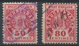 1181 - ST. GALLEN Fiskalmarken - Fiscaux