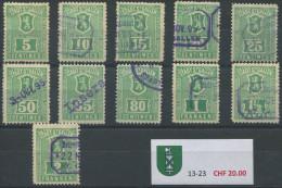 1182 - ST. GALLEN Fiskalmarken - Fiscaux