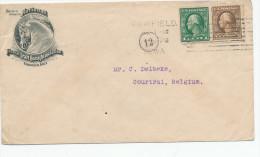 345/24 - USA CHEVAL - Lettre Illustrée FAIRFIELD Iowa 1914 - National French Draft Horse Association - Farm