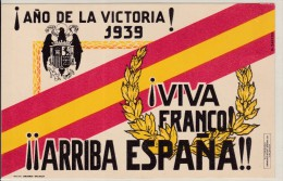 España - TARJETA POSTAL - GUERRA CIVIL - VIVA FRANCO - Ganzsachen